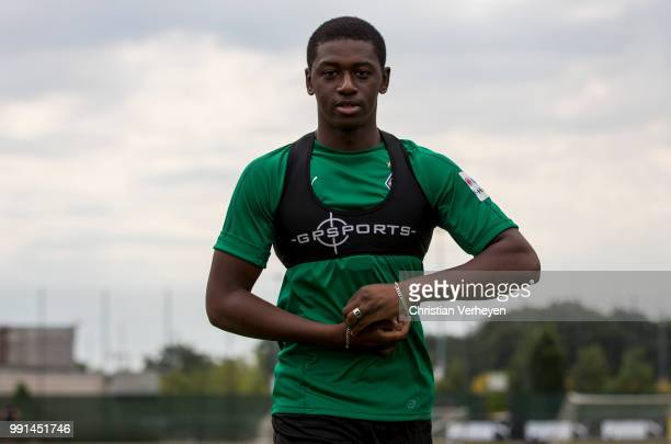 Mamadou Doucoure during a training session of Borussia Moenchengladbach at Borussia-Park on July 04, 2018 in Moenchengladbach, Germany.