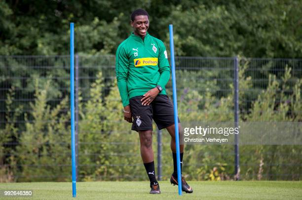 Mamadou Doucoure during a training session of Borussia Moenchengladbach at Borussia-Park on July 06, 2018 in Moenchengladbach, Germany.