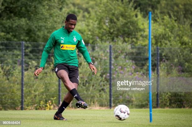 Mamadou Doucoure during a training session of Borussia Moenchengladbach at BorussiaPark on July 06 2018 in Moenchengladbach Germany