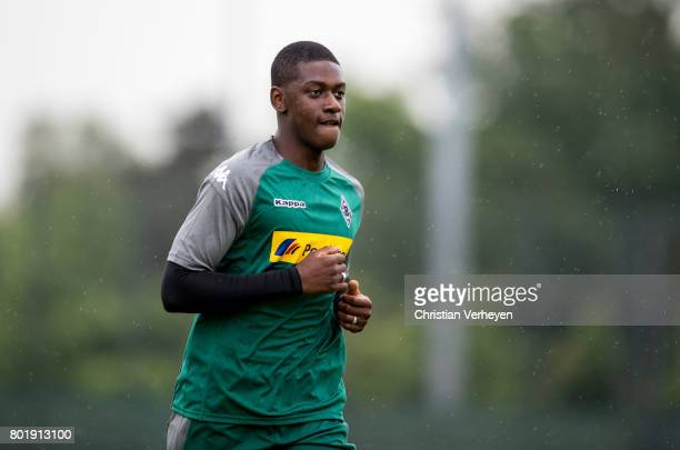 Mamadou Doucoure during a training session of Borussia Moenchengladbach at BorussiaPark on June 27 2017 in Moenchengladbach Germany