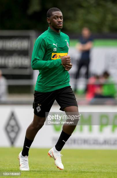 Mamadou Doucoure in action during a Training Session at Borussia Moenchengladbach Training Camp at Stadion am Birkenmoos on July 23 2018 in...