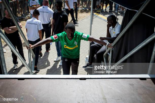 Mamadou Doucoure of Borussia Moenchengladbach at the Season Opening Party after the preseason friendly match between Borussia Moenchengladbach and FC...