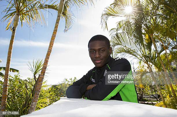 Mamadou Doucoure of Borussia Moenchengladbach during a portrait session at Borussia Moenchengladbach Training Camp on January 08 2017 in Marbella...