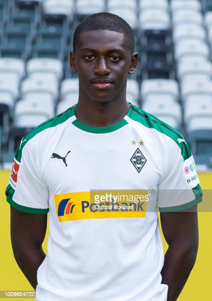 Mamadou Doucoure of Borussia Moenchengladbach poses during the team presentation at Borussia Park on August 2, 2018 in Moenchengladbach, Germany.