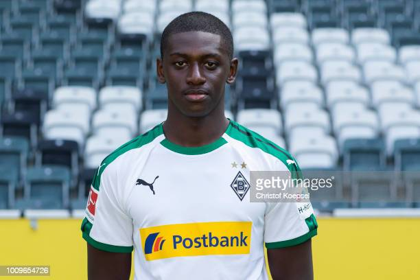 Mamadou Doucoure of Borussia Moenchengladbach poses during the team presentation at Borussia Park on August 2 2018 in Moenchengladbach Germany