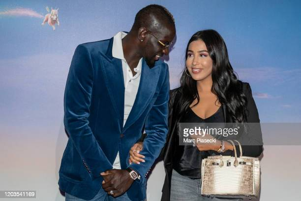 Mamadou Sakho and wife Majda Sakho attend the 'Le Prince oublie' Premiere at Le Grand Rex on February 02 2020 in Paris France