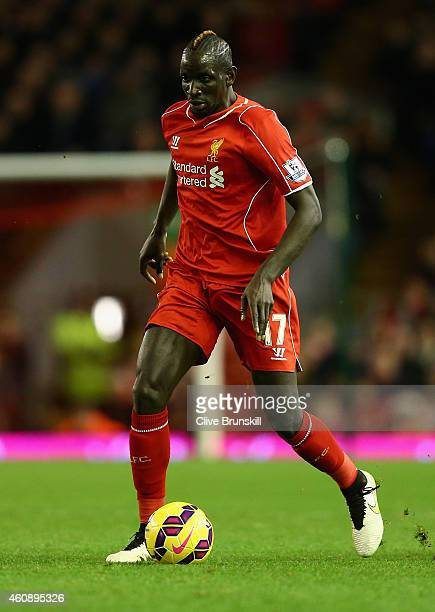Mamadou Sakho of Liverpool in action during the Barclays Premier League match between Liverpool and Swansea City at Anfield on December 29 2014 in...