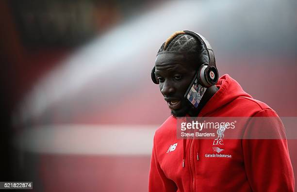 Mamadou Sakho of Liverpool looks on ahead of the Barclays Premier League match between AFC Bournemouth and Liverpool at the Vitality Stadium on April...