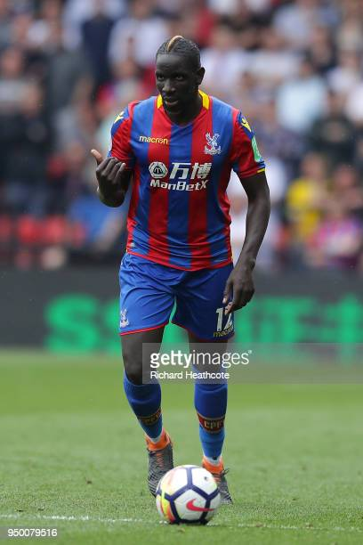 Mamadou Sakho of Palace in action during the Premier League match between Watford and Crystal Palace at Vicarage Road on April 21 2018 in Watford...