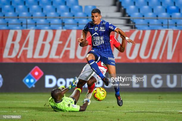 Mamadou Samassa and Ahmed Kashi of Troyes during the Ligue 2 match between Troyes and Brest at Stade de l'Aube on August 3 2018 in Troyes France
