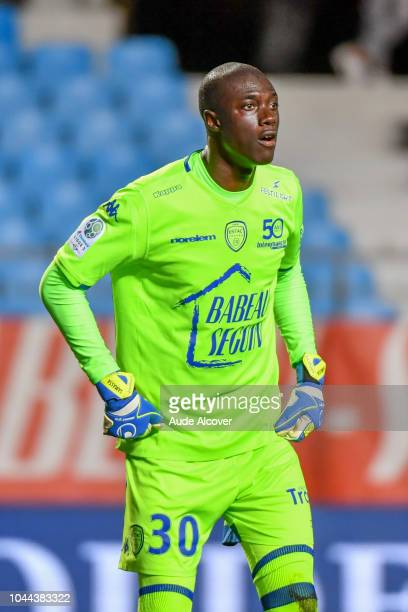 Mamadou Samassa of Troyes during the French Ligue 2 match between Troyes and Auxerre at Stade de l'Aube on October 1 2018 in Troyes France
