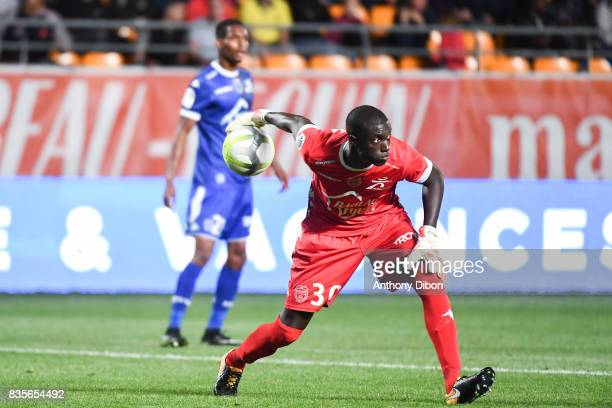 Mamadou Samassa of Troyes during the Ligue 1 match between Troyes Estac and FC Nantes at Stade de l'Aube on August 19 2017 in Troyes