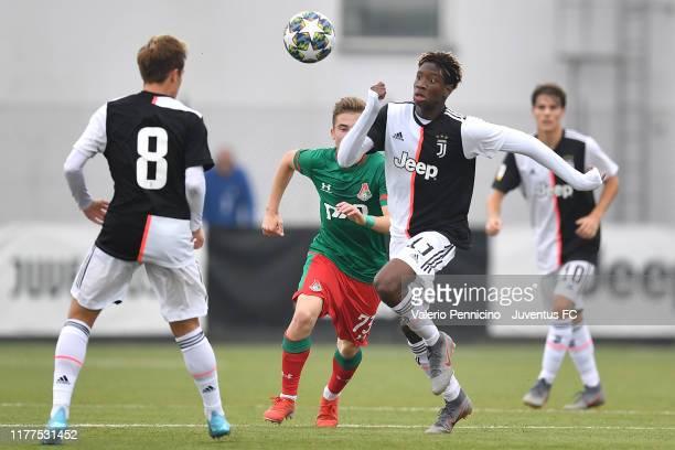 Mamadou Sene of Juventus in action during the UEFA Youth League group D match between Juventus and Lokomotiv Moskva at Juventus Center Vinovo on...