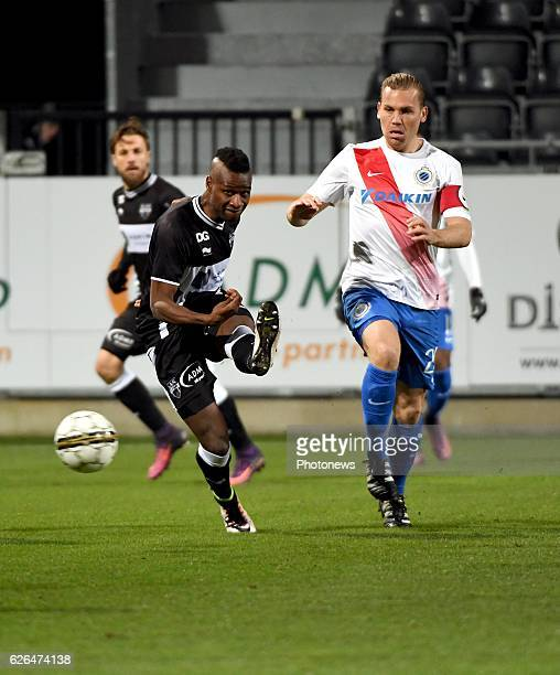 Mamadou Sylla forward of Eupen and Ruud Vormer midfielder of Club Brugge pictured during Croky cup 1/8 F match between KASEupen and Club Brugge KV on...