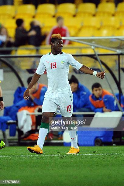 Mamadou Thiam of Senegal celebrates scoring the match winning goal during the FIFA Under20 World Cup football quarterfinal match between Senegal and...