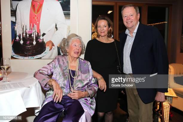 """Mamarazza"""" Fuerstin Marianne """"Manni"""" zu Sayn-Wittgenstein-Sayn and her children, daughter Teresa von Kageneck and son Prince Peter zu..."""