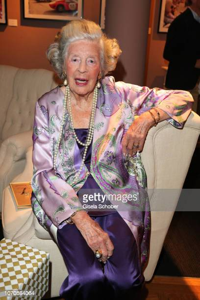 Mamarazza Fuerstin Marianne Manni zu SaynWittgensteinSayn during her vernissage and 99th birthday party at Country Club on December 9 2018 in...