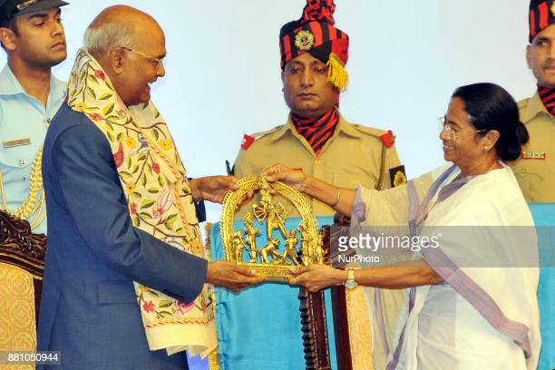 Mamata Banerjee Chief Minister of West and President of India Shri Ram Nath Kovind during West Bengal Government Felicitate to President of India...