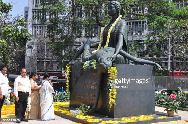 Mamata Banerjee Chief Minister of West Bengal a tribute to those martyred along present Kolkata Corporation Mayor Sovon Chatterjee during the Bengali...