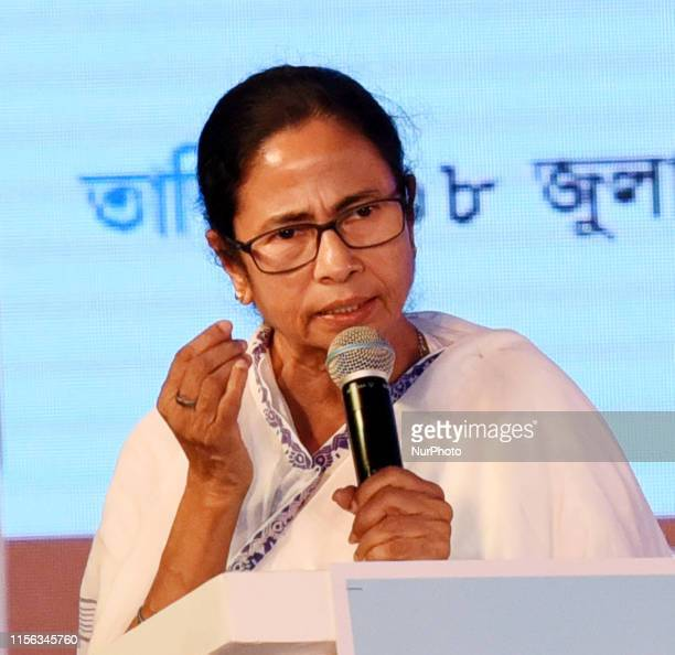 Mamata Banerjee Chief Minister of West Bengal Address at the Lunch of many new projects at Calcutta Leather Complex on July 18,2019 in Kolkata,India.