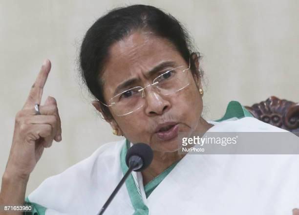Mamata Banerjee Chief Minister of West Bengal and Chief of all India Trinamool Congress political party at the meet the press and protst to the BJP...