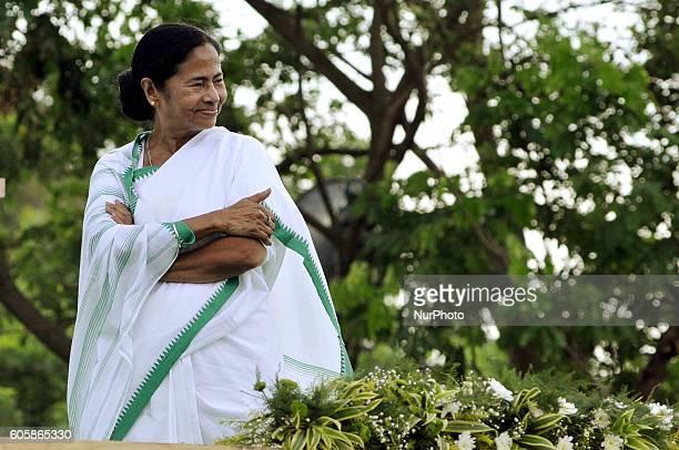 Mamata Banerjee Chief Minister of West Bengal at the Singur Divas rally at Singur ,Kolkata to 39 Kilometer Distances in West Bengal,India.West Bengal...