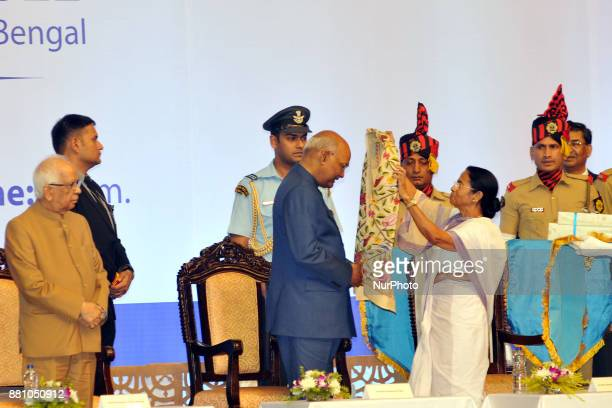 Mamata Banerjee Chief Minister of West Felicitate to President of India Shri Ram Nath Kovind and Present Keshari Nath Tripathi Governor of West...