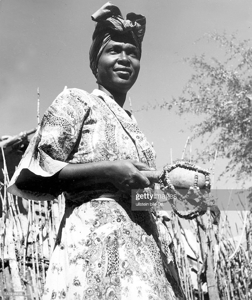 MAMBO, 1958  A 'Mambo,' or Voodoo priestess, in the