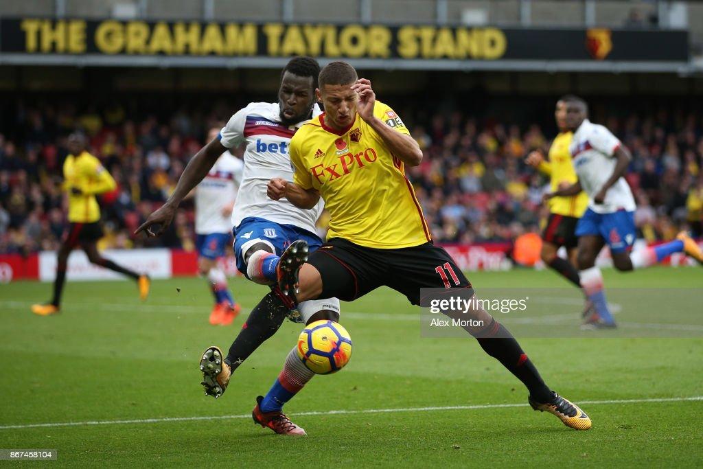 Watford v Stoke City - Premier League : News Photo
