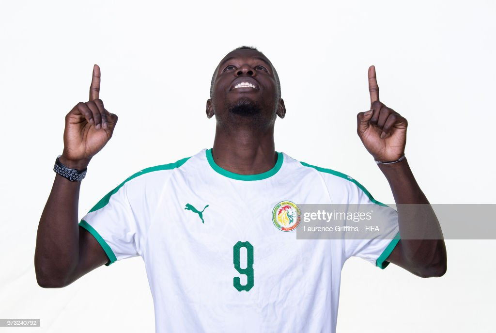 Mame Diouf of Senegal poses for a portrait during the official FIFA World Cup 2018 portrait session at the Team Hotel on June 13, 2018 in Kaluga, Russia.