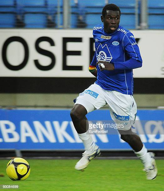 Mame Mbar Diouf of Molde FK during the Norwegian Tippeligaen match between Molde FK and Stabaek IF held on October 17 2009 at the Aker Stadion in...