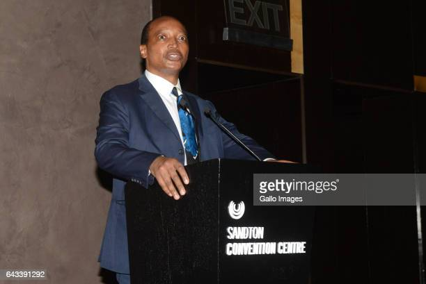 Mamelodi Sundowns Chairman Patrice Motsepe during a gala on February 17, 2017 in Sandton, South Africa. Sport and Recreation Minister Fikile Mbalula...