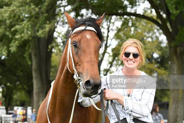 Mamelon after winning the bet365 Maiden Plate at Kyneton Racecourse on March 13 2020 in Kyneton Australia