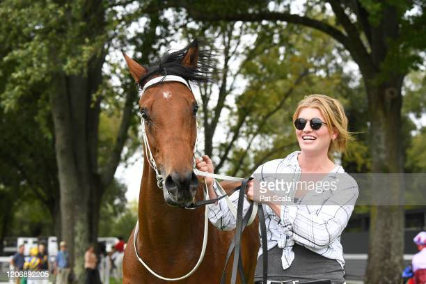 Mamelon after winning the bet365 Maiden Plate ,at Kyneton Racecourse on March 13, 2020 in Kyneton, Australia.