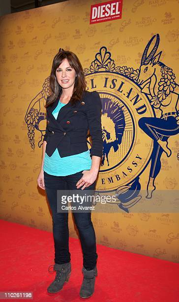 Mamen Mendizabal attends Diesel Island Embassy party at 'El Circulo de Bellas Artes' on March 16 2011 in Madrid Spain
