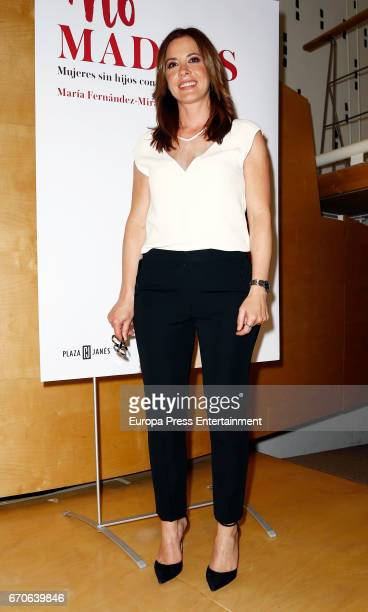 Mamen Mendizabal attends the presentation of the book 'No madres' on April 19 2017 in Madrid Spain