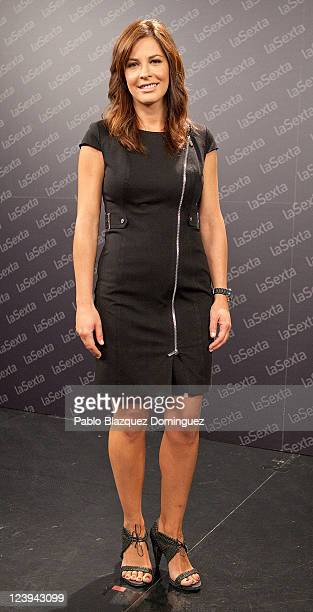 Mamen Mendizabal poses for photographers during 'La Sexta' TV Channel New season Presentation on September 6 2011 in Madrid Spain