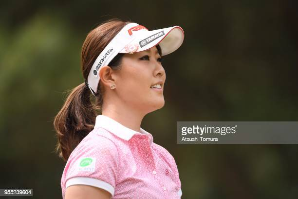 Mami Fukuda of Japan looks on during the final round of the World Ladies Championship Salonpas Cup at Ibaraki Golf Course West Course on May 6 2018...