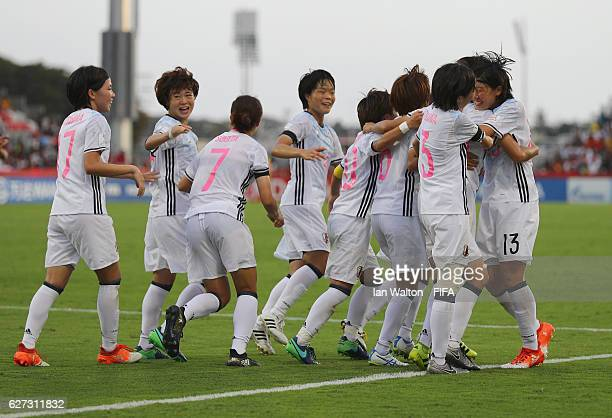 Mami Ueno of Japan celebrates scoring a goal during the FIFA U20 Women's World Cup Third Place Play Off match between USA and Japan at National...