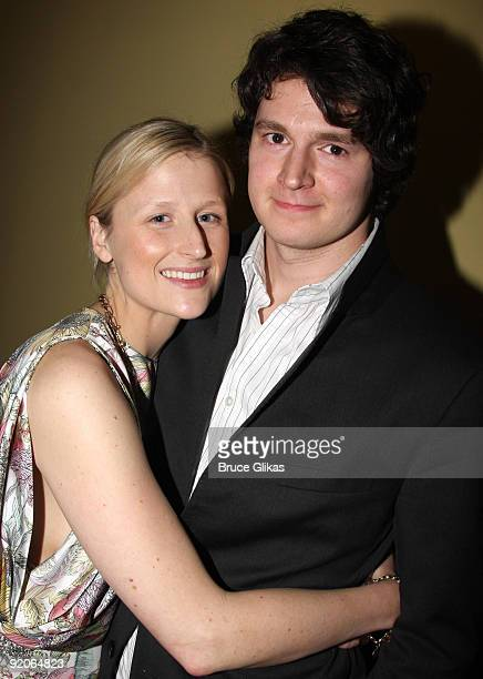 Mamie Gummer and Benjamin Walker attend the after party for the offbroadway opening night of Uncle Vanya at Pangea on February 12 2009 in New York...