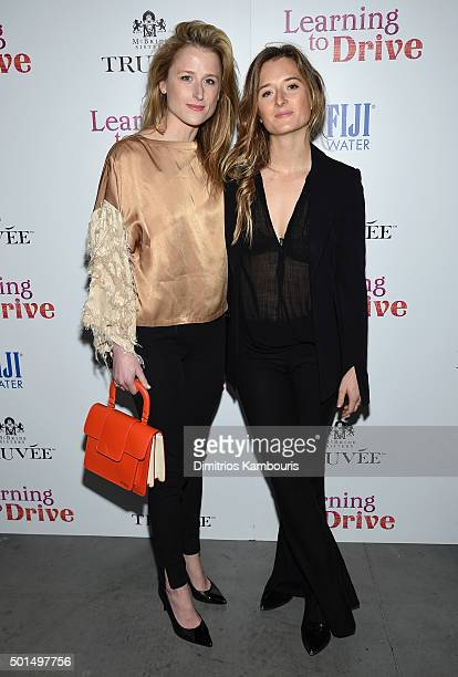 Mamie Gummer and Grace Gummer attend A Celebration for Patricia Clarkson Presented by FIJI Water and Truvee Wines on December 15 2015 in New York City