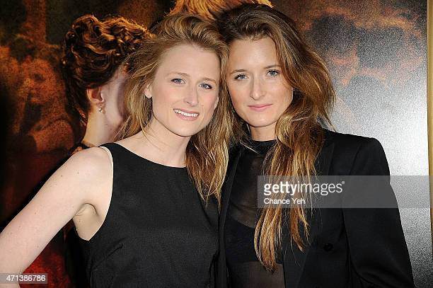 Mamie Gummer and Grace Gummer attend 'Far From The Madding Crowd' New York special screening at The Paris Theatre on April 27 2015 in New York City