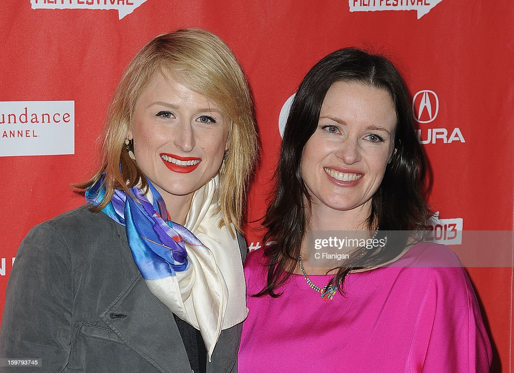 Mamie Gummer and Liz Garcia arrive for 'The Lifeguard' Premiere at Library Center Theater on January 19, 2013 in Park City, Utah.