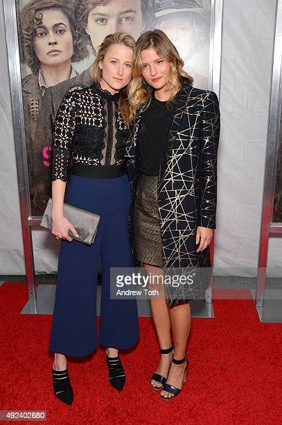 Mamie Gummer and Louisa Gummer attend the 'Suffragette' New York premiere at Paris Theatre on October 12 2015 in New York City
