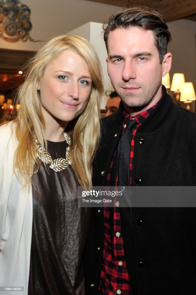 Mamie Gummer and Rightor Doyle attend the ASMALLWORLD Champagne Diamond Apero at the Gstaad Palace Hotel on December 14, 2012 in Gstaad, Switzerland.