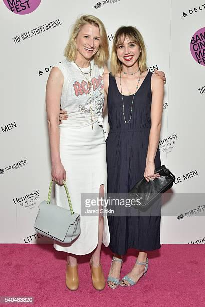 Mamie Gummer and Zoe Kazan attend BAMcinemaFest 2016's Opening Night Premiere of Magnolia Pictures' Little Men at BAM Harvey Theater on June 16 2016...