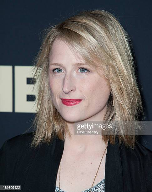 Mamie Gummer attend the 'Beyonce Life Is But A Dream' New York Premiere at Ziegfeld Theater on February 12 2013 in New York City