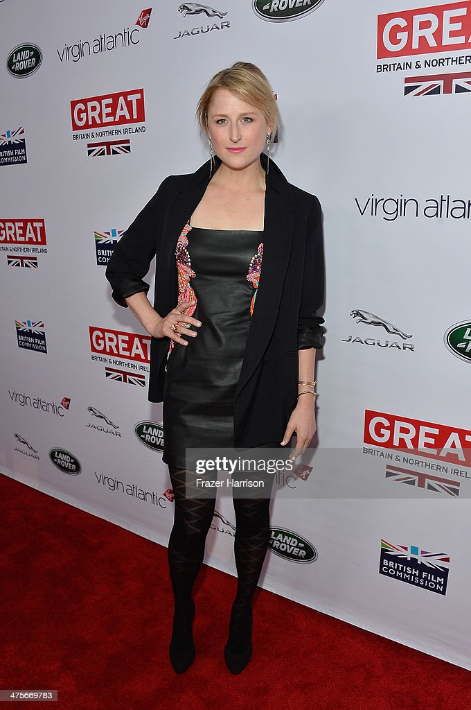 Mamie Gummer attends the 2014 GREAT British Oscar Reception at British Consul General's Residence on February 28, 2014 in Los Angeles, California.