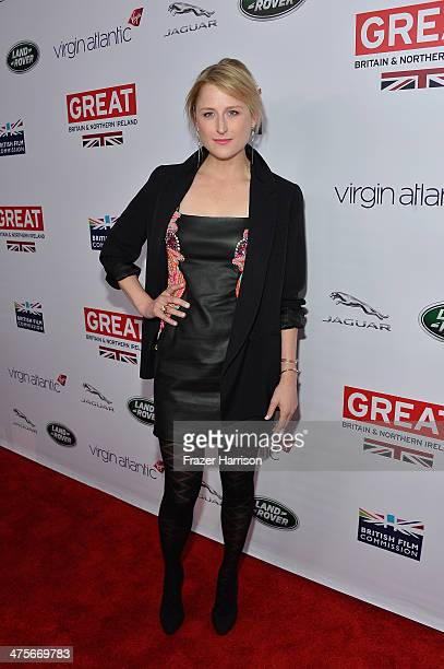 Mamie Gummer attends the 2014 GREAT British Oscar Reception at British Consul General's Residence on February 28 2014 in Los Angeles California