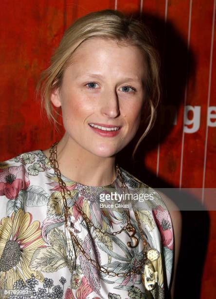 Mamie Gummer attends the after party for the offbroadway opening night of Uncle Vanya at Pangea on February 12 2009 in New York City